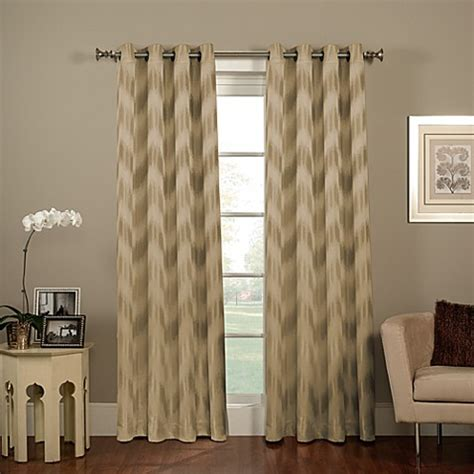 ikat window curtains chevron ikat grommet window curtain panels bed bath beyond