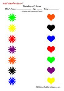 match the color matching colours worksheets montessori toddler kid