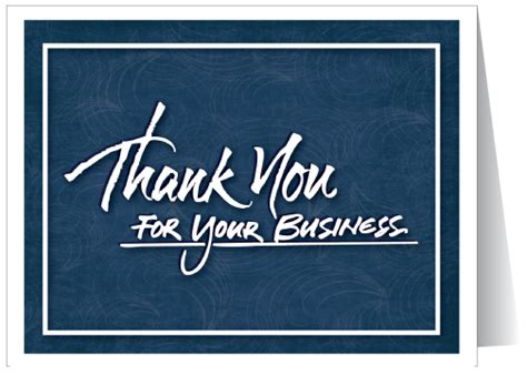 thank you for your business card template professional blue thank you card 100 harrison