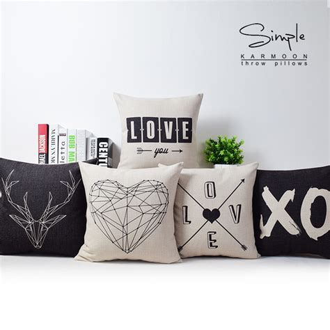aliexpress com buy nordic simply geometric pillow home aliexpress com buy nordic geometric deer love pillow