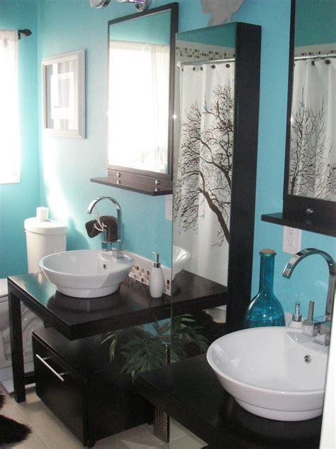 bathroom accessories mint green  gray grey yellow home