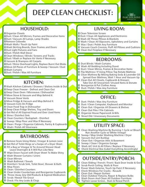 printable living area deep cleaning checklist mom it easy cleaning schedule for working moms women fitness