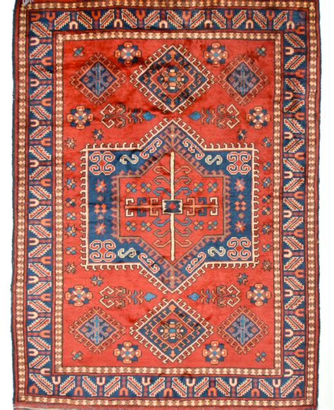 Turkish Handmade Rugs - handmade turkish rug geometric medallion and blue wool 5