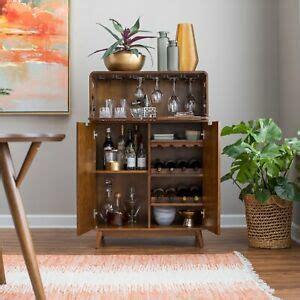 mini bar liquor cabinet mid century modern wine rack