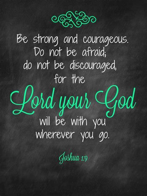 Joshua 1:9   Living With Meniere's Disease Blog