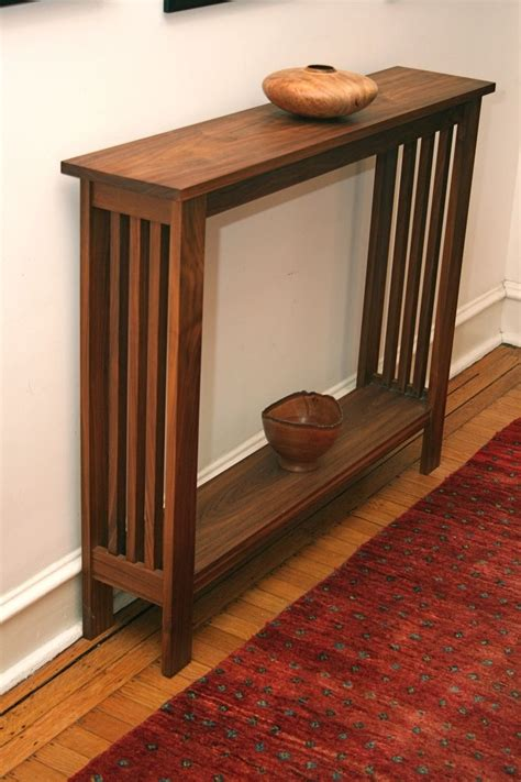 Thin Hallway Table Made Walnut Table By Fredric Blum Design Custommade