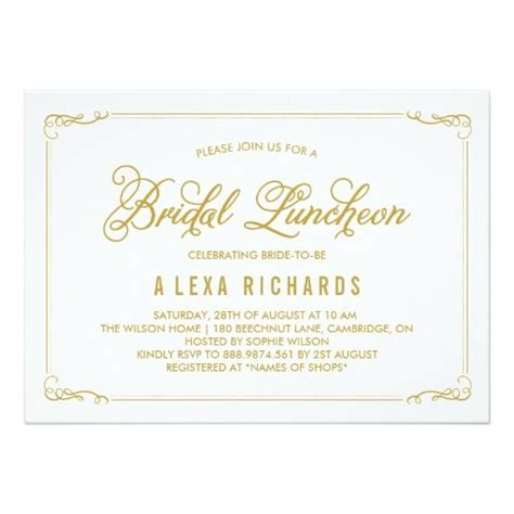 wedding lunch invitation sle 1000 ideas about bridal luncheon invitations on