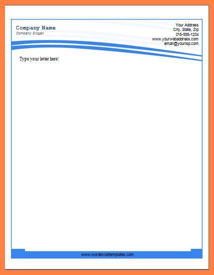 letterhead template word  company letterhead