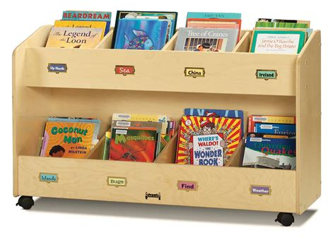 kids book storage childrens book storage cart 8 literature pockets