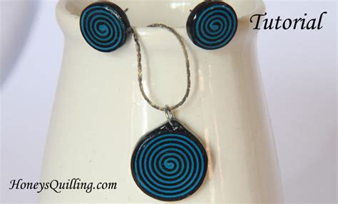 How To Make Paper Earrings Water Resistant - how to make spiral circle paper quilled earrings and