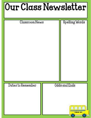 One Teacher S Adventures Freebie Editable Classroom Newsletter Template Free Editable Newsletter Templates For Teachers