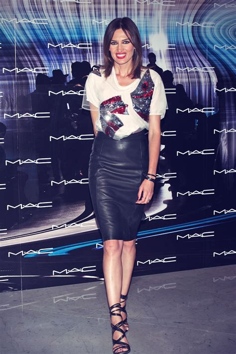 nieves alvarez attends mac   catwalk leather