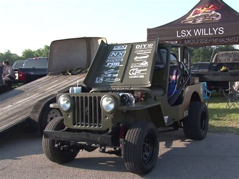 willys jeep lsx video lsx willys jeep goes up against boostedgt in