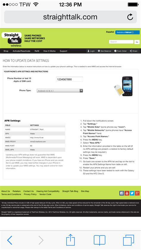 Talk Phone Number Lookup How To Setup Talk Wireless Data And For Your Iphone Running Ios 6