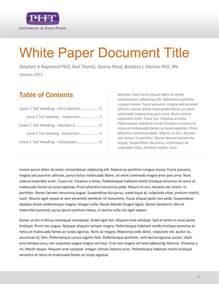 Ms Word Thesis Template White Paper Template Sadamatsu Hp