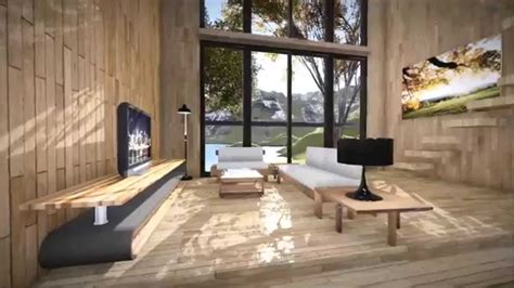 wood house interior lumion  rendering youtube