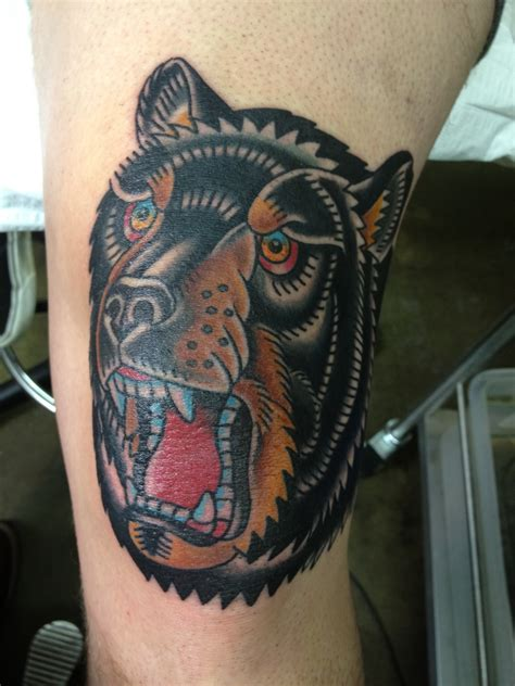 a bear on the knee doyle tattoo