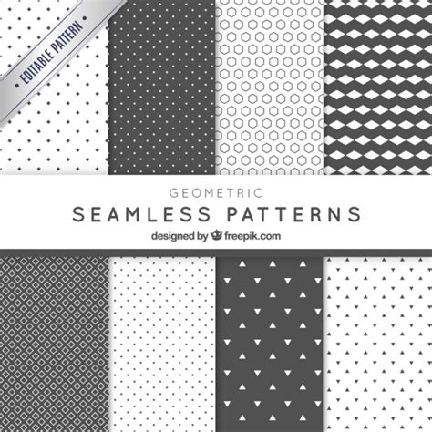 photoshop pattern freepik abstract geometric grey patterns pack vector free download