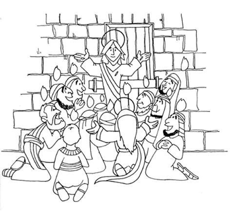 coloring page pentecost pentecost