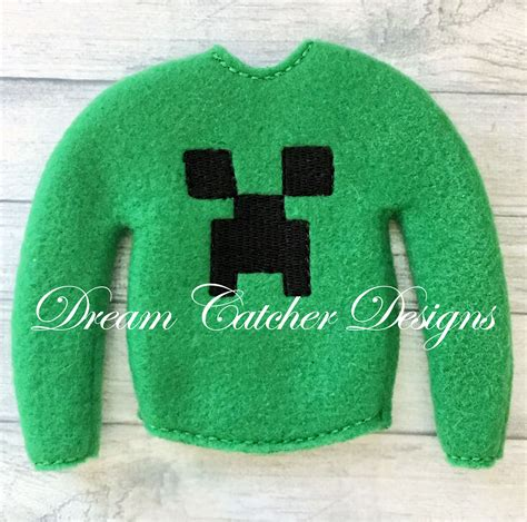 Sweater Pes 2 ith small doll minecraft sweater and shirt embroidery