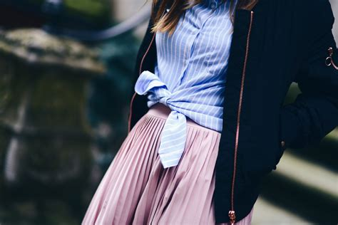 how to wear a shirt with a skirt shiny syl