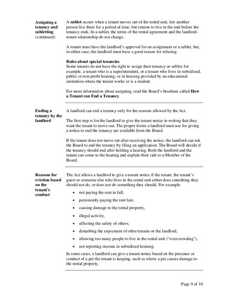 Ontario Lease Notice Of Termination A Guide To The Ontario Residential Tenancies Act