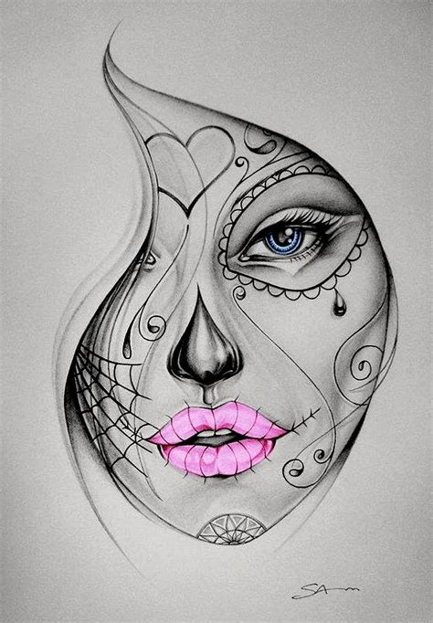 female skull tattoos resultado de imagen para beautiful skull tattoos for