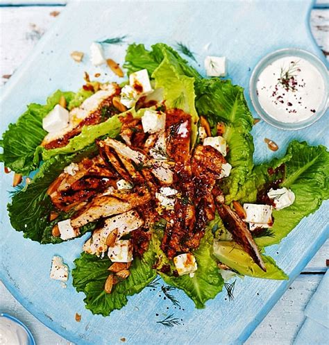 Sweet sticky chicken with rich feta and toasted almonds is a real