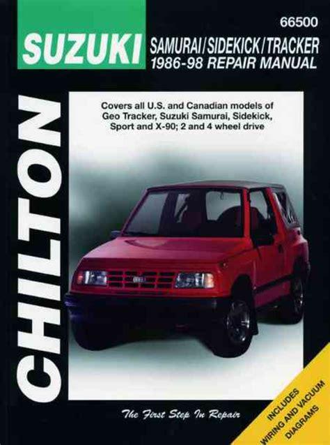 free auto repair manuals 1998 suzuki sidekick regenerative braking chilton workshop manual suzuki samurai sidekick tracker x 90 geo 1986 1998 eur 23 75 picclick de