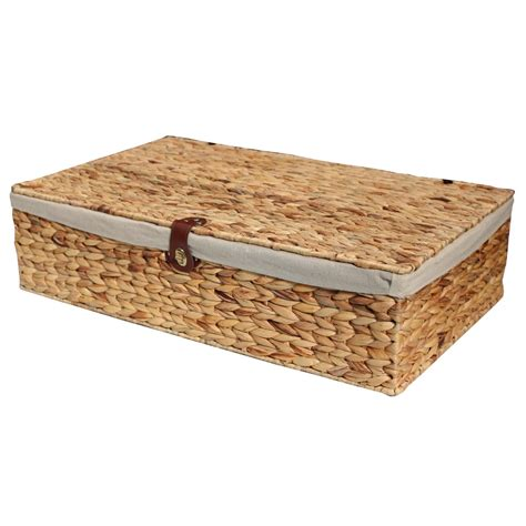 under bed storage baskets water hyacinth underbed storage basket