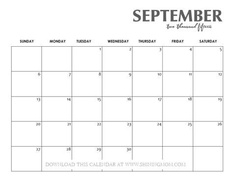 Calendar Sept 2015 All Lovely 10 Free Calendars For September 2015