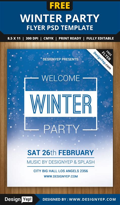 Free Winter Welcome Party Flyer Psd Template Designyep Welcome Flyer Template