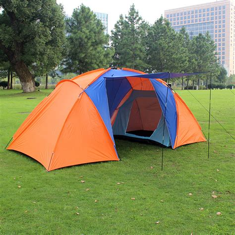 4 man tent 2 bedroom 2015 new style high quality big tourist tent double layer