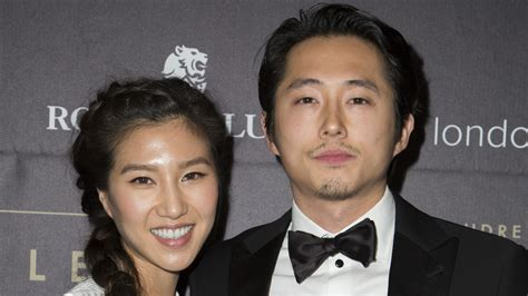 Bride Dress For Bridal Shower by Steven Yeun Of Quot The Walking Dead Quot Marries Joana Pak