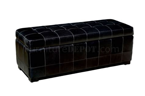 black leather tufted ottoman black color button tufted leather ottoman with storage