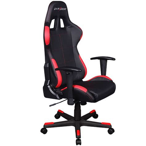 red and black computer desk dxracer oh fd99 nr high back ergonomic computer desk chair
