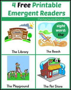 More printable emergent readers from the measured mom sight word