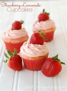 strawberry lemonade cupcakes with strawberry cream cheese frosting