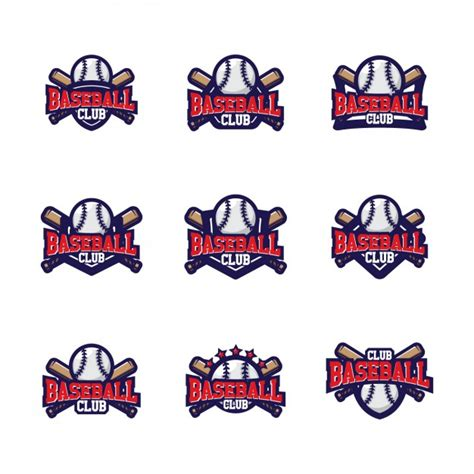 baseball logo template baseball logo templates design vector free