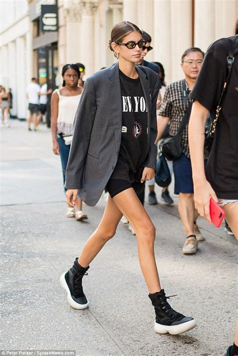 kaia gerber birthday kaia gerber steps out wearing cycling shorts on 17th
