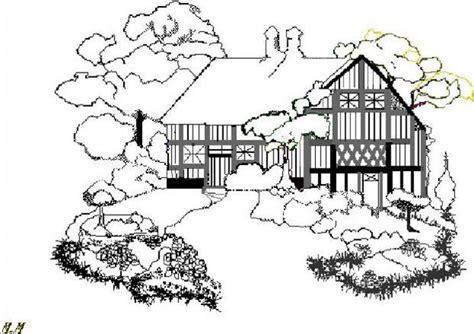 hutte préhistorique dessin coloriages cottage anglais fr hellokids