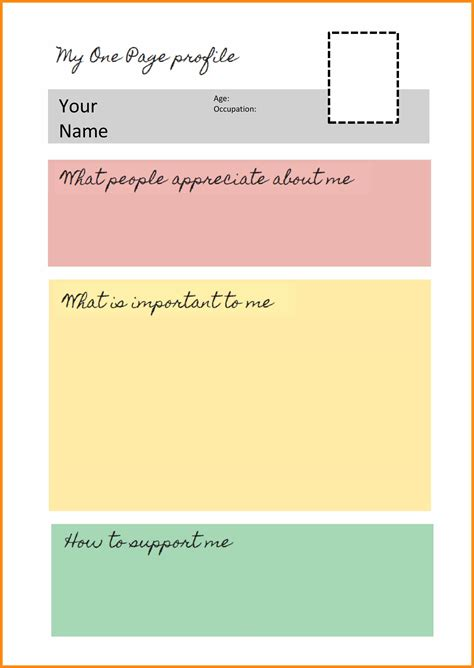 html templates for personal profile personal profile template word memo exle