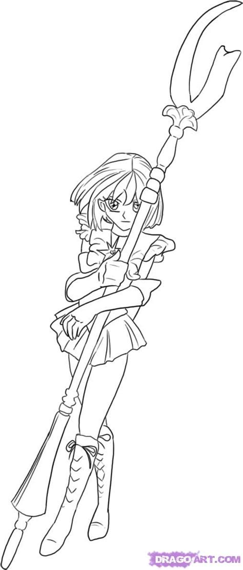 sailor saturn colouring pages page 2