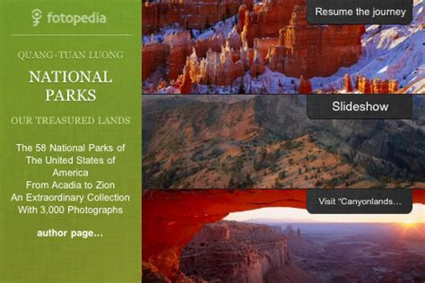 fotopedia national parks for iphone, ipod touch and ipad
