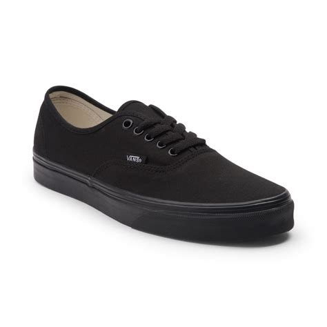 black shoes vans authentic skate shoe black 499420
