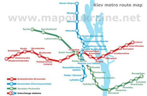 map route kiev metro route map