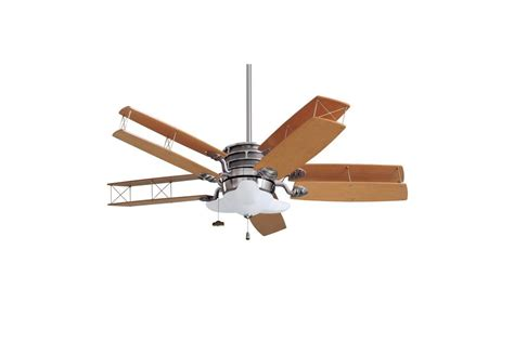 airplane ceiling fan emerson cf2800bs brushed steel maple 52 quot transitional bi