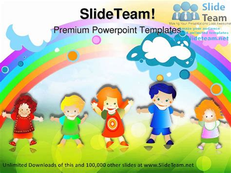 ppt templates for nursery happy kids children powerpoint templates themes and