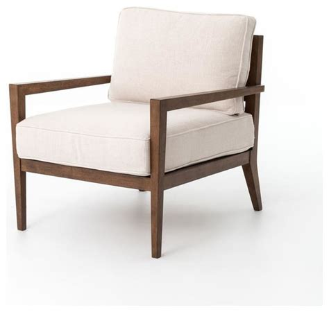four kensington laurent wood frame accent chair