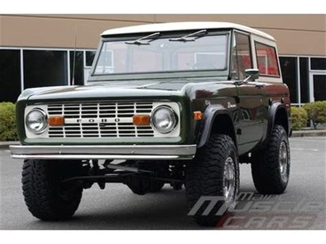 find used 1976 ford bronco dark moss green new wheels